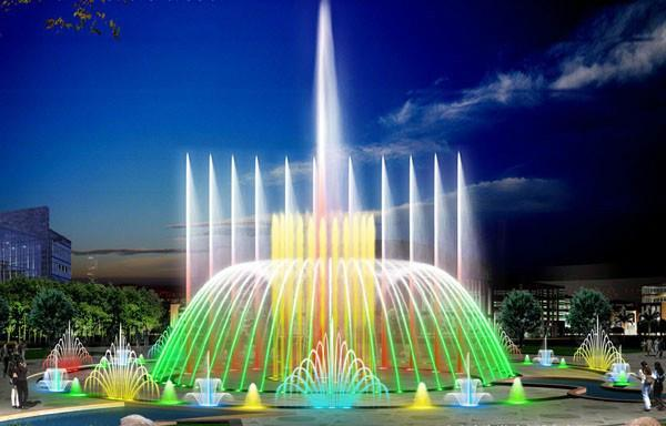 水景喷泉图图片